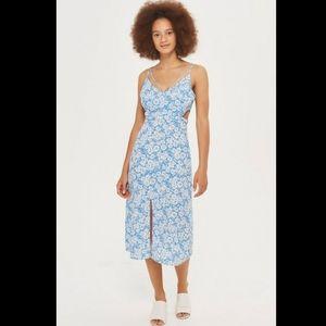 TOPSHOP cornflower dress